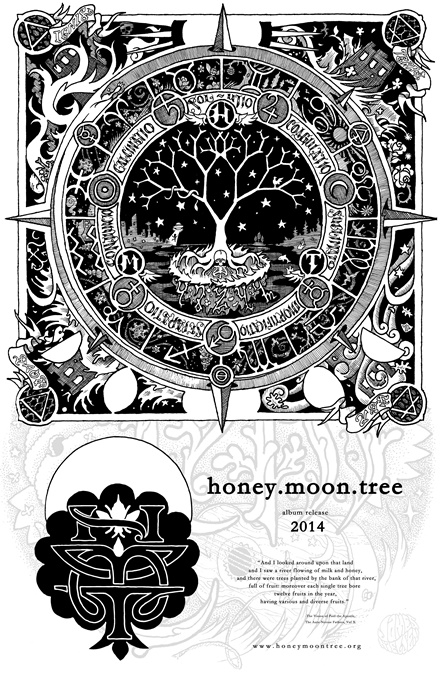 honey.moon.tree CD release poster 2014
